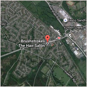 Directions to Brush Strokes Hair Salon in Blackwater near Camberley
