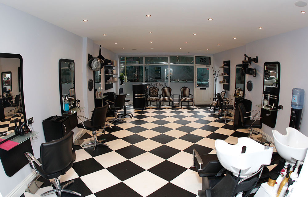 Interior of Brush Strokes Hair Salon in Camberley